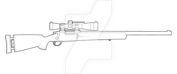 M24 Sws Lineart By Masterchieffox A In 2019 Desenhos