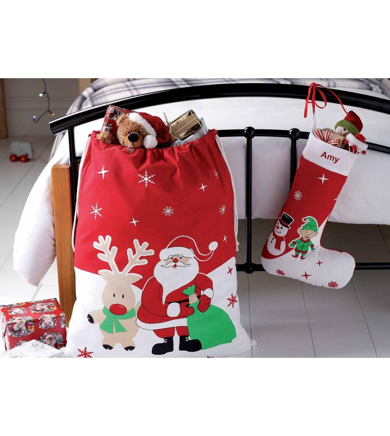 Image for personalised giant santa sack with free elf
