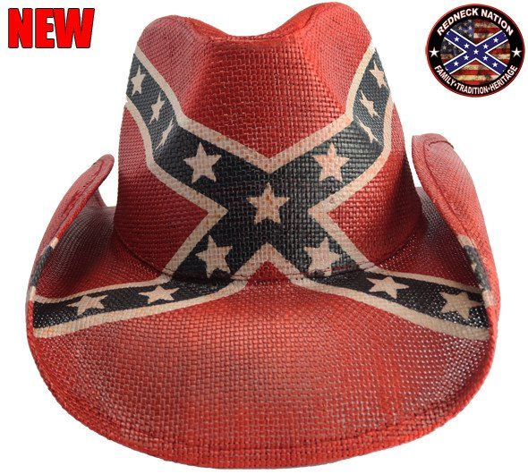 Redneck Nation Confederate Cowboy Hat RNC-35 3803a0979aa