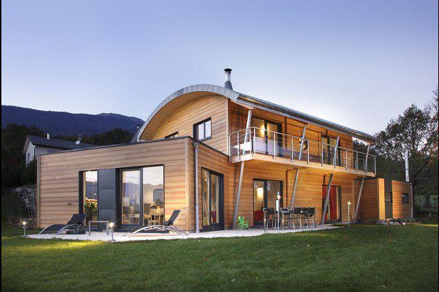 Myotte duquet architecture bois reportage construction maisons ossature bois toiture cintr e - Reportage construction maison ...