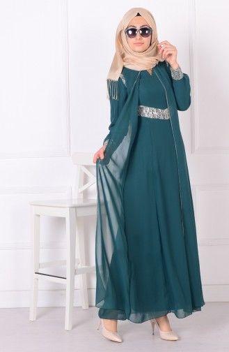 Sefamerve Pul Payetli Abiye Elbise 4079 04 Zumrut Yesil Moda Stilleri Giyim The Dress