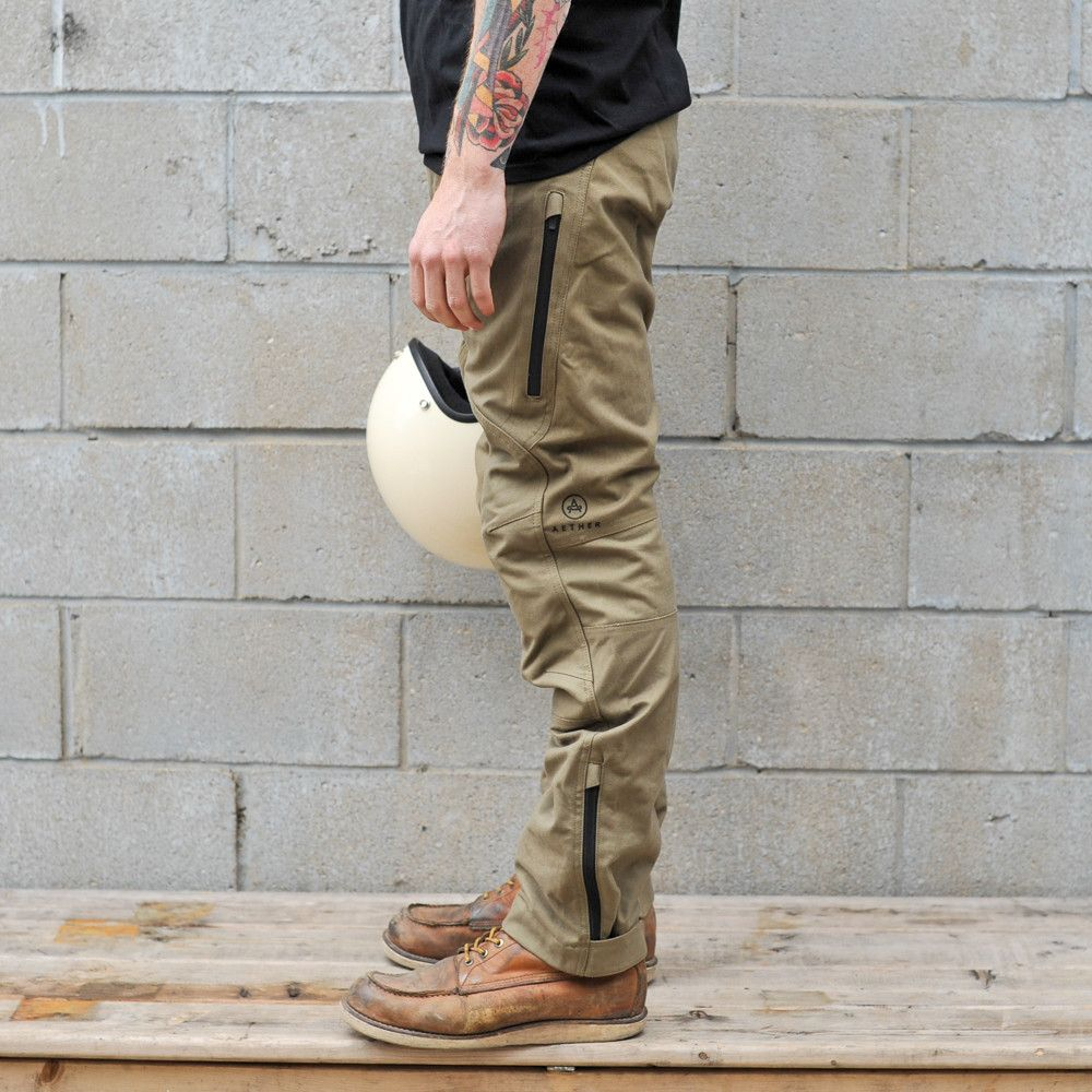Aether Compass Pants Brown Slim fit pants men, Slim
