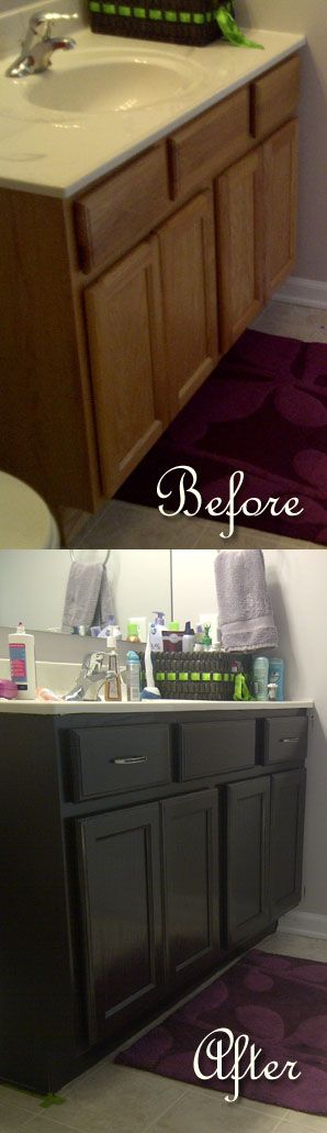 restaining bathroom cabinets bathroom makeover an easy staining project to get rid of 25514