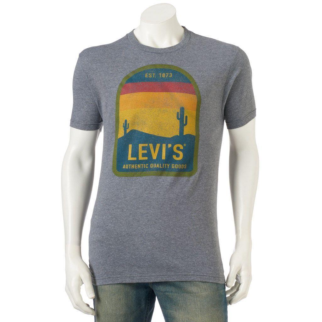Men's Levi's® Erlich Tee, Size: Medium, Dark Grey
