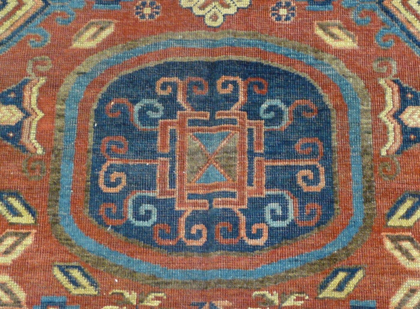Early Khotan Carpet - Aaron Nejad Antique Carpets