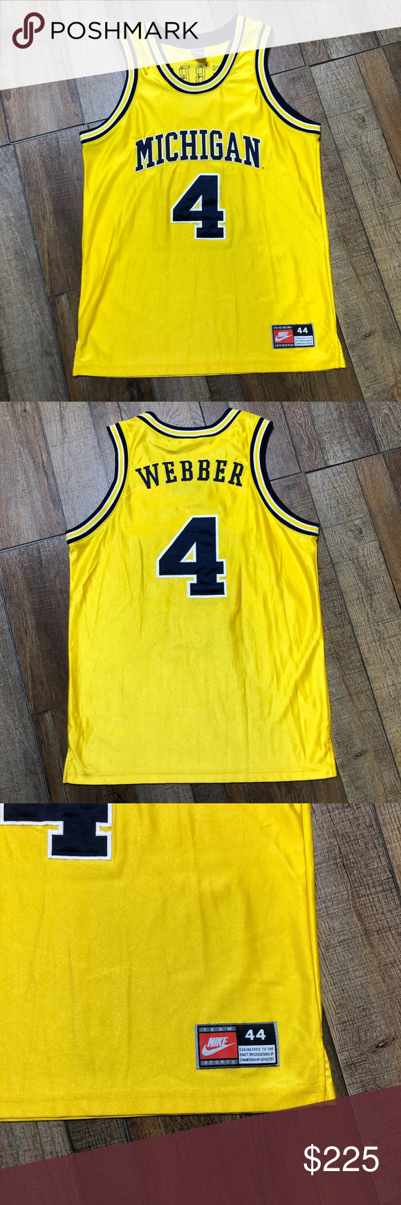 the best attitude 6d4c8 2f72c Chris Weber Michigan Wolverines NCAA Nike Jersey Chris ...