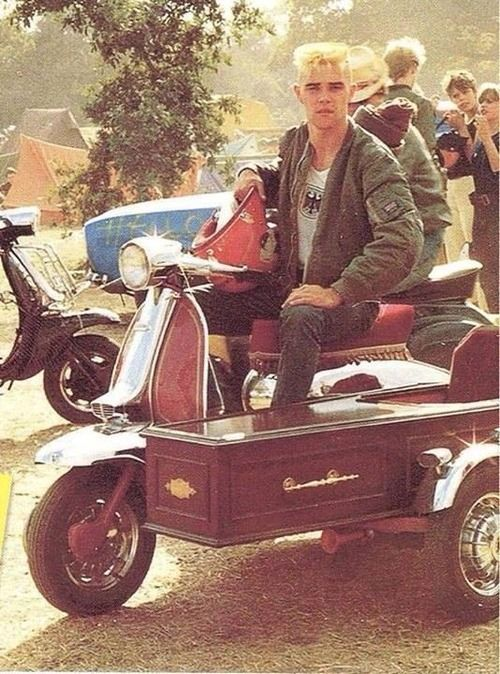 Ian Brown in his scooterboy days: