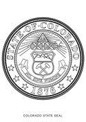 Colorado State Seal Coloring Page Coloring Pages Flag Coloring
