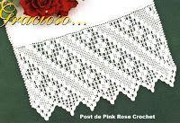 PINK ROSE CROCHET /: Barrado de Crochê