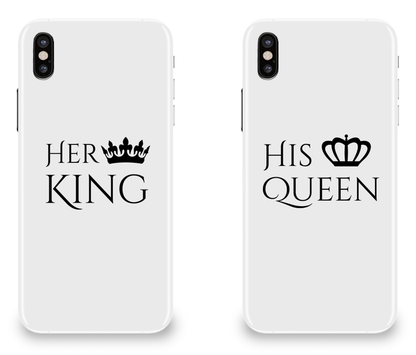best service 58439 ef7b6 Her King His Queen / Phone Cases / Couple Matching Phone Cases ...
