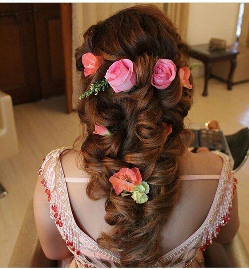25 Pre Wedding Hairstyles For Mehndi Haldi Or More Functions: Idea By Haniya Malik On Hair Styles