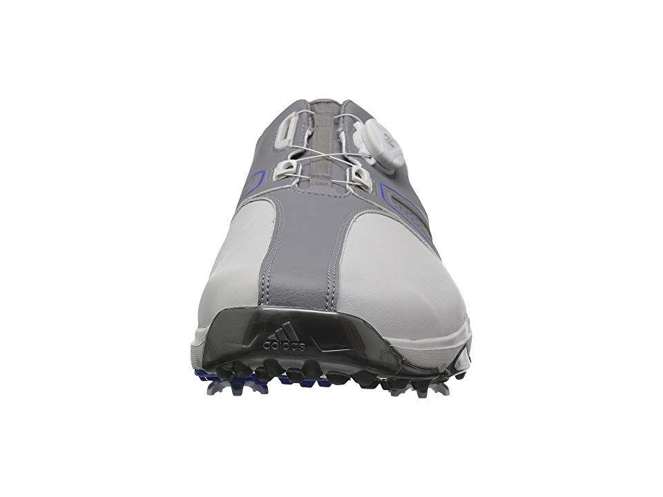new style e35ab 3a8cb adidas Golf 360 Traxion Boa Mens Golf Shoes Grey OneGrey ThreeHi-Res Blue