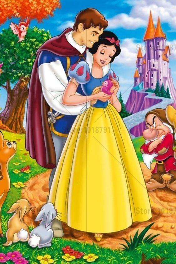 5D Diamond Painting Snow White Castle Kit   Белоснежка ...