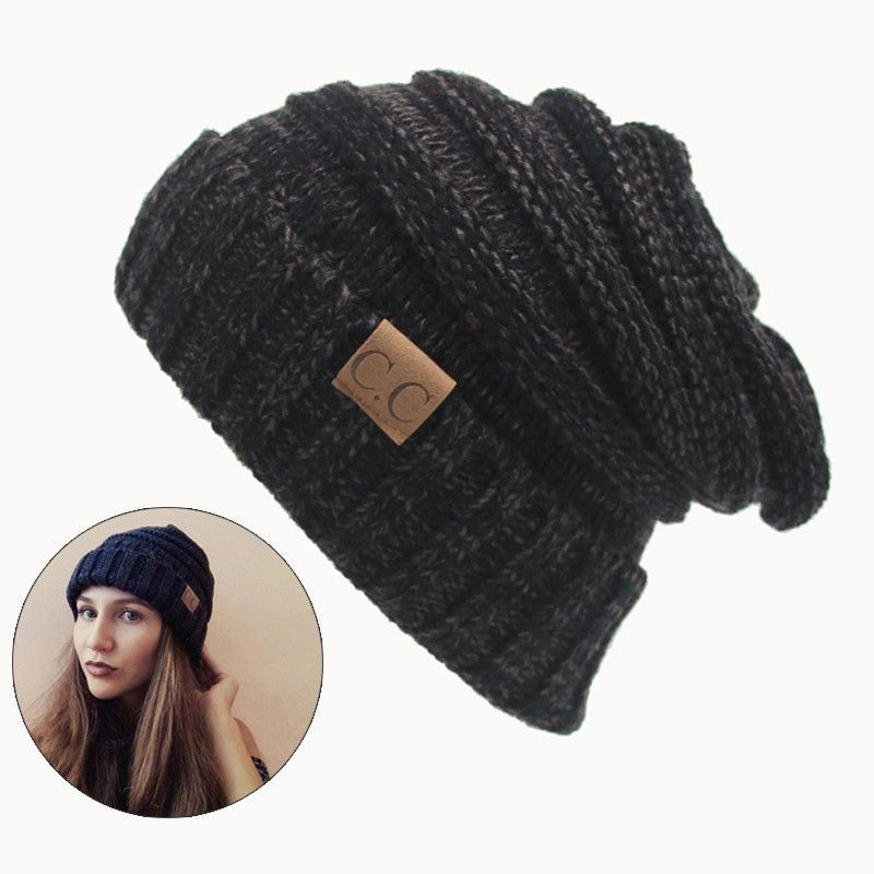 85e8f17ee C.C Trendy Warm Cap Chunky Soft Stretch Cable Knit Beanie Skully ...