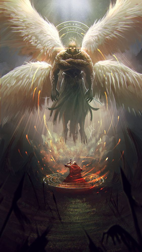 """Garuda por alejdark - Criaturas   Dibujando.net wings angel bird people creature feathers gladiator - one of their breeding programs created this. He can """"sing"""" with an effect, but not nearly as powerful or as focused as a siren."""