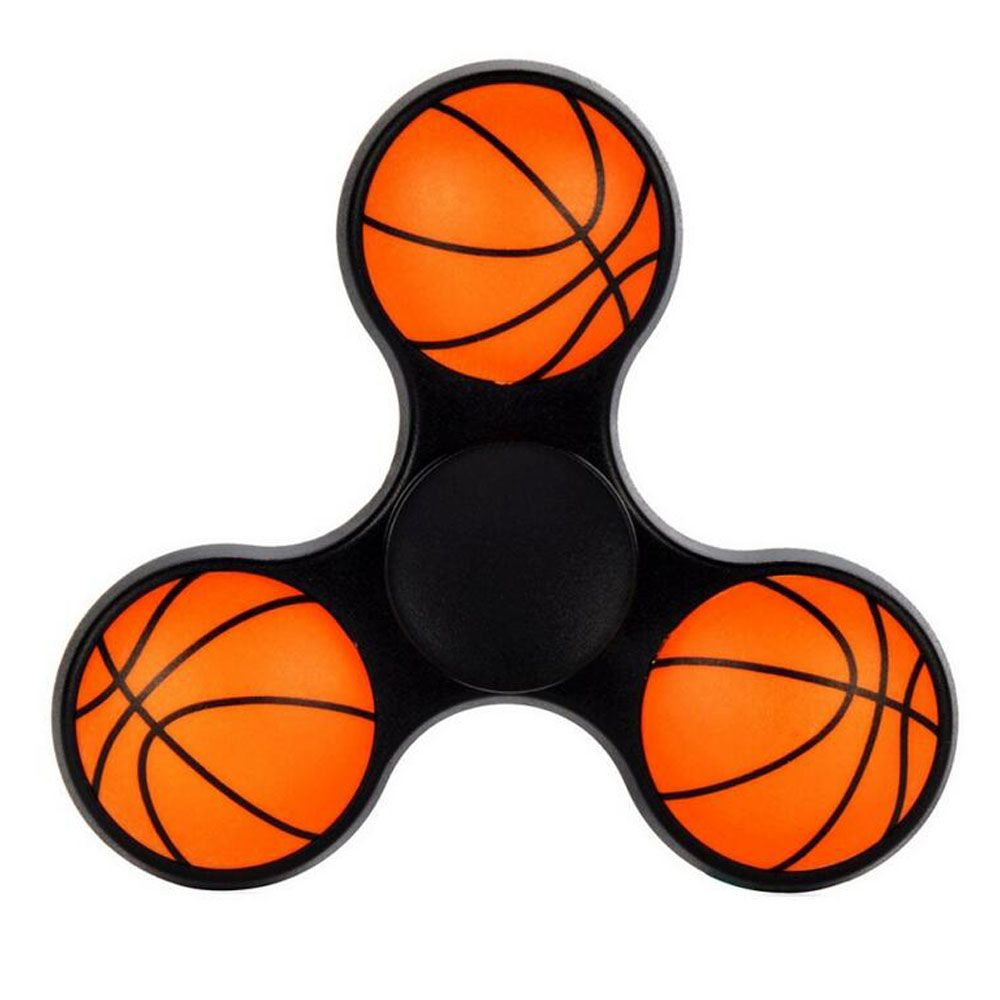 New Creative Basketball Football Tri Spinner Fidget Toy Edc Hand Triangle Bearing Keramik Ceramic Toys For Autism And Adhd