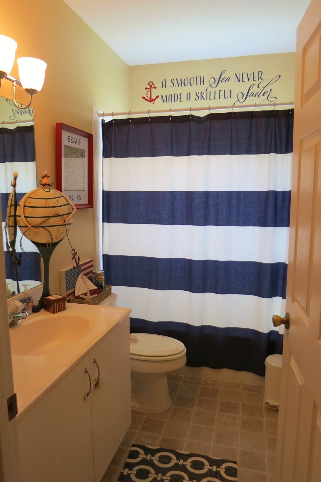 Family Faith And Diy William S Nautical Bathroom Part 2 Nautical Bathrooms Boys Bathroom Man Bathroom