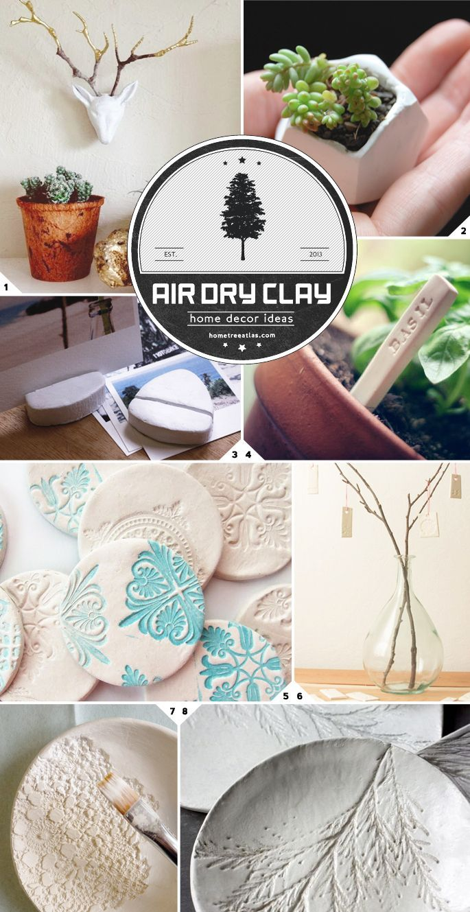 Home Decor Ideas Using Air Dry Clay Air dry clay, Dry