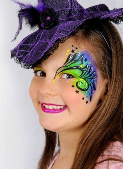 Como Hacer Un Maquillaje De Bruja Para Halloween Face Painting - Maquillaje-bruja-para-nia