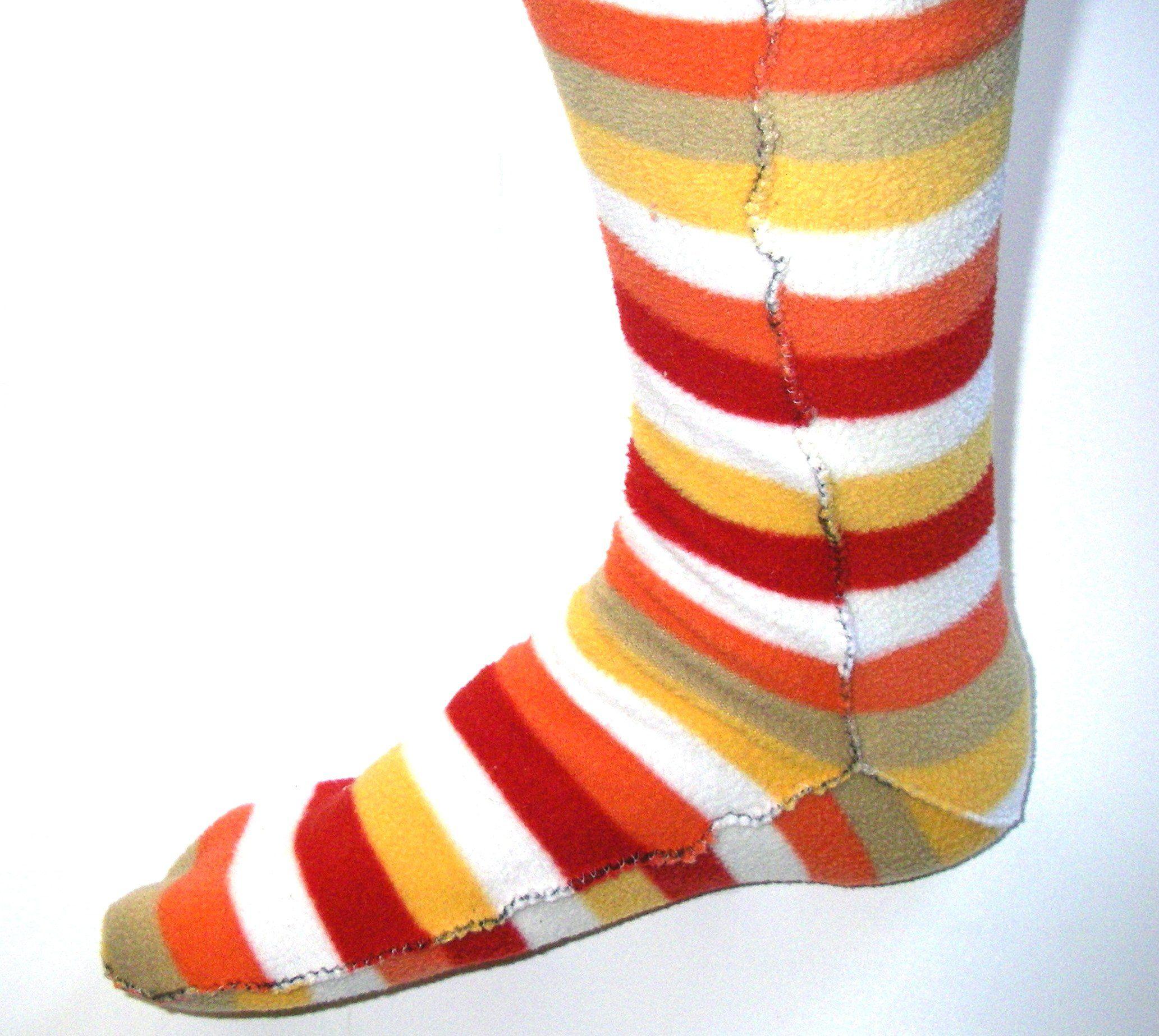 Cozy socks from polarfleece blanket diy socks sewing