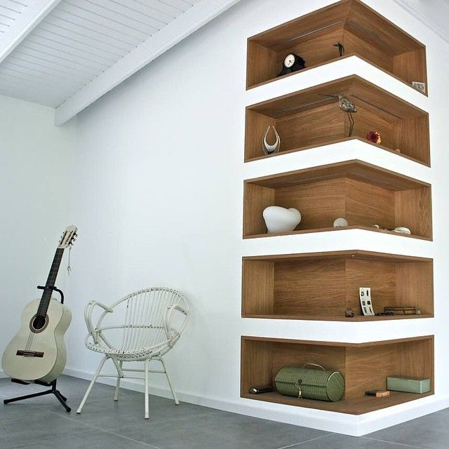 Cool Shelving super cool corner shelvescloset inspiration! #laclosetdesign