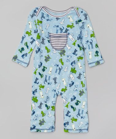 Love this Blue Dog Pocket Playsuit - Infant on #zulily! #zulilyfinds