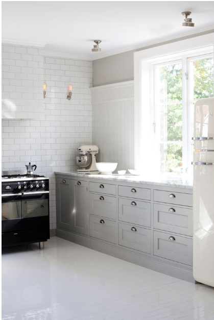 MesCapricesGreyKitchen Kitchen Pinterest Kitchens Timeless - Soft grey kitchen
