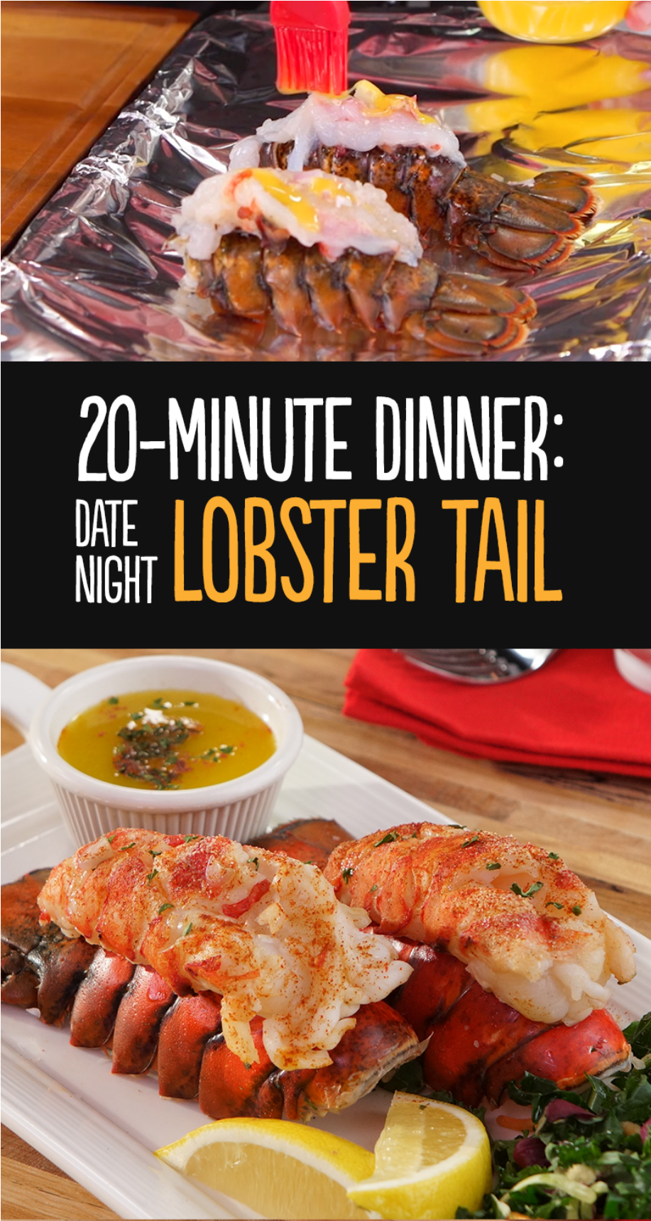 20 minute Baked Lobster Tail Recipe | In the Kitchen with H-E-B Video