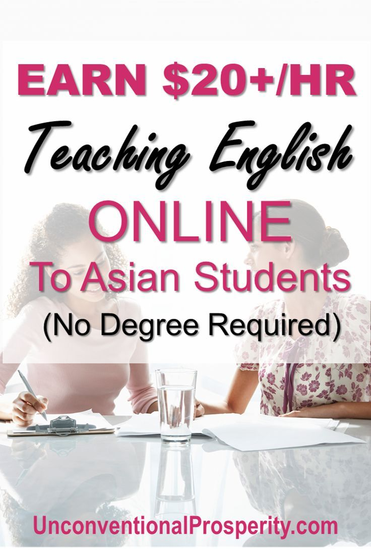 Earn 22 Per Hour to Teach English Online no Degree