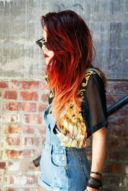 11 Auffallende Frisuren In Feurigen Farben Einfach Verlockend