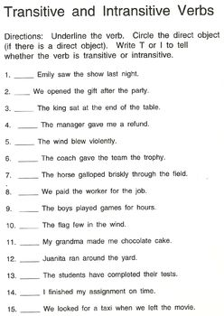 Intransitive And Transitive Verbs With Images Transitive Verb