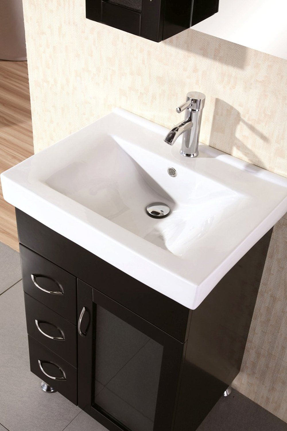 Design Element Oslo Single Porcelain Integrated DropIn Countertop - 24 inch bathroom vanity sets for bathroom decor ideas