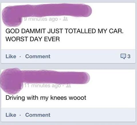 Worst Day Ever! #fb #facebook #funny #stupid #lol