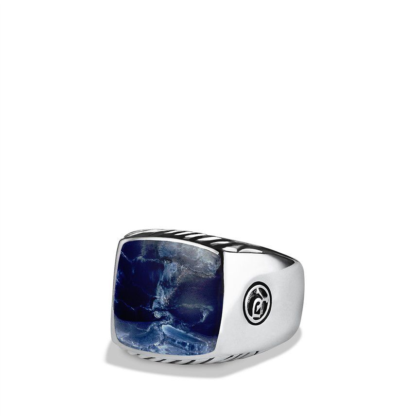 Men Stuff Exotic Stone Large Band Ring With Pietersite