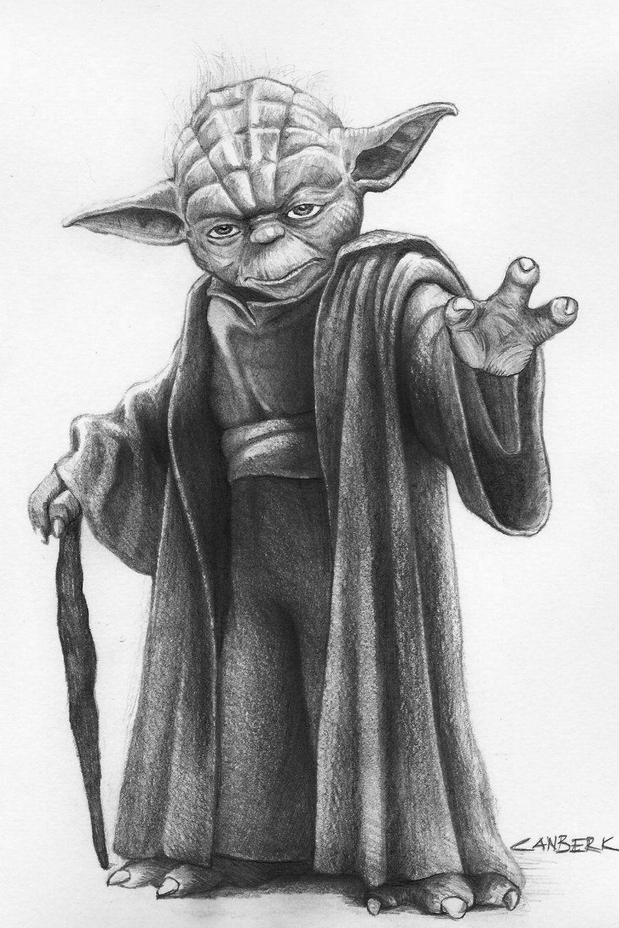 Pencil Drawing of Star Wars Yoda