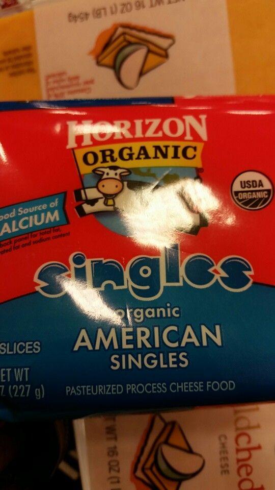 Horizon organic American cheese slices vegetarian and halal verified