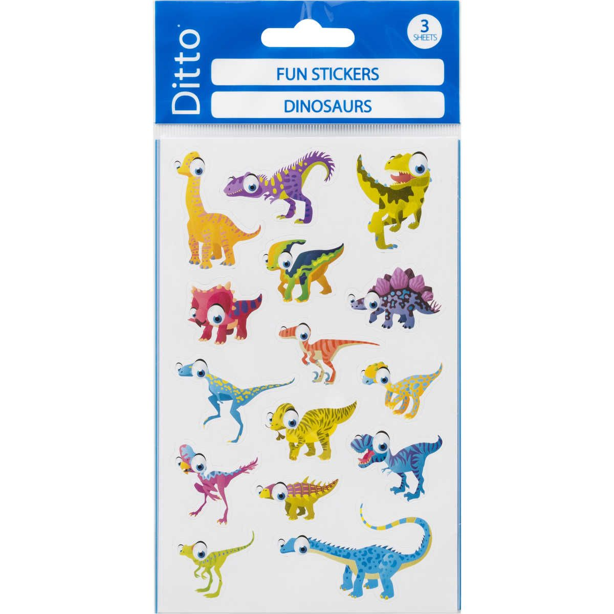 Big W Stickers Ditto Dinosaurs Fun Stickers H Is 3 The Good Dinosaur