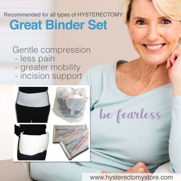 Great Binder Set For Help During Hysterectomy Recovery