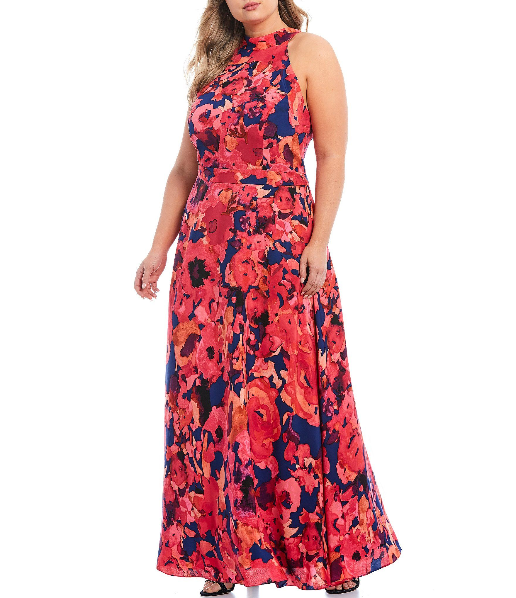 Shop For Tahari Asl Plus Size Floral Print Chiffon Halter Maxi Dress At Dillard S Visit Dillard S To Halter Maxi Dresses Maxi Dress Short Sleeves Dress Formal [ 2040 x 1760 Pixel ]