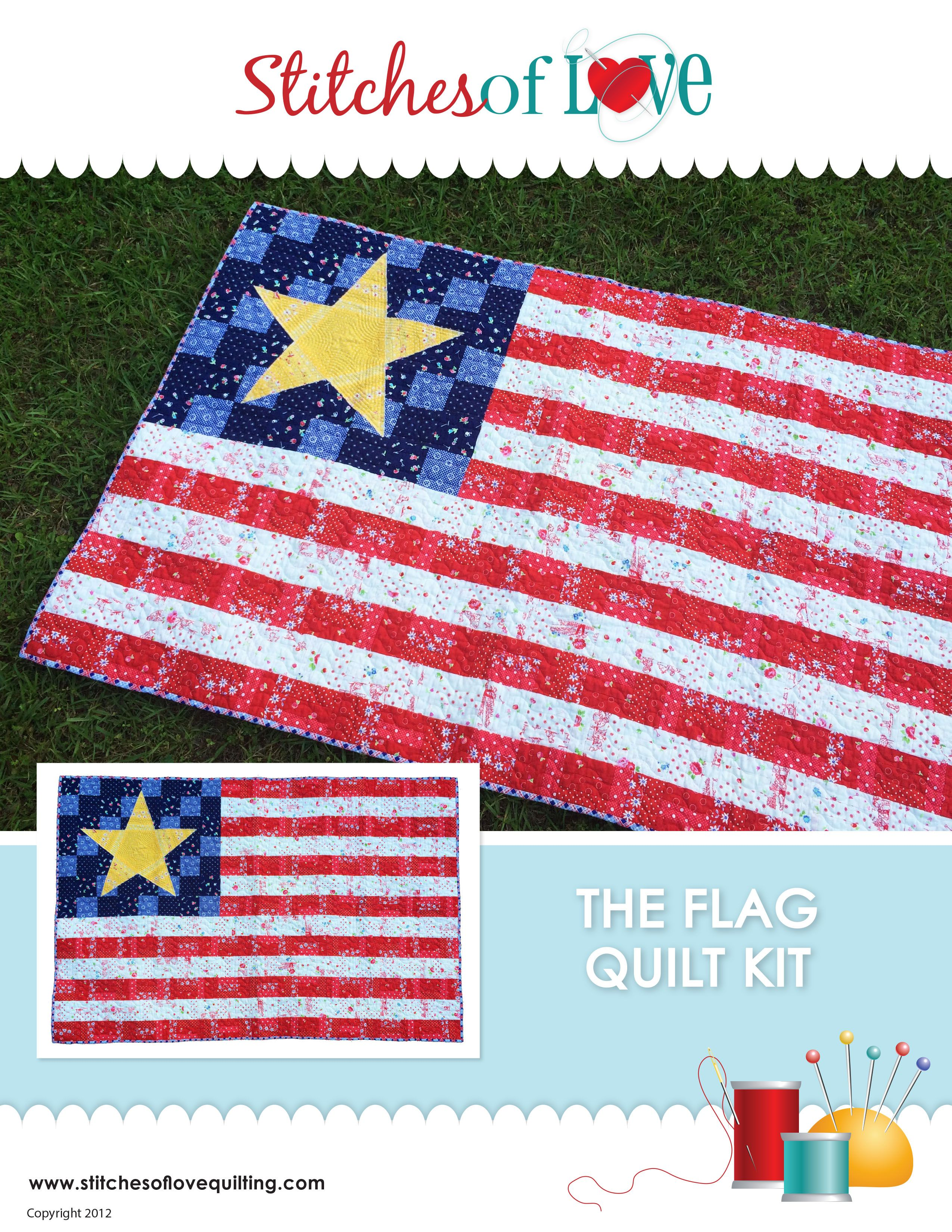 The Flag Quilt Kit - Stitches of Love Quilting | Stitches of Love Quilting