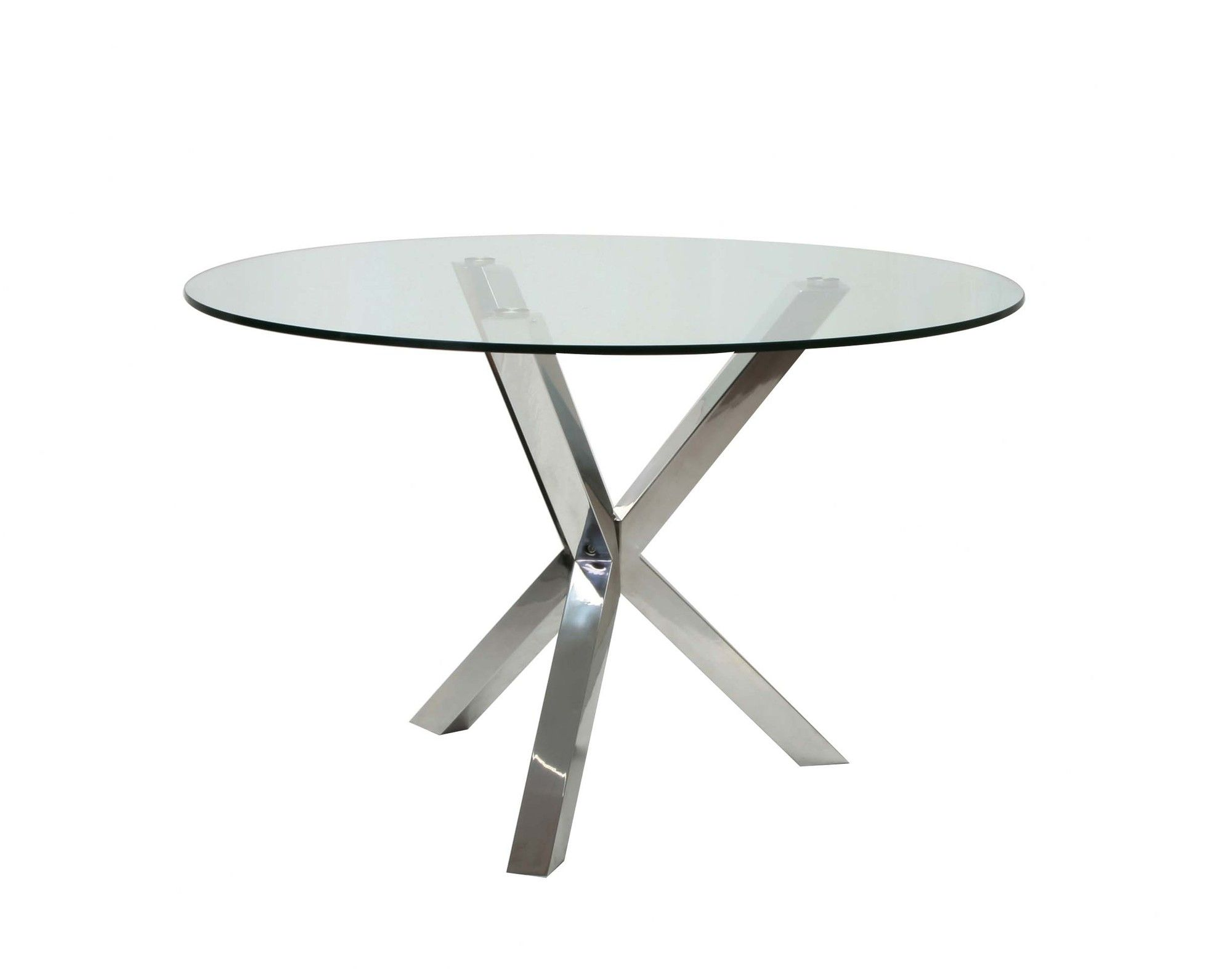 Round glass table top view moeus home collection redondo dining table in clear glass