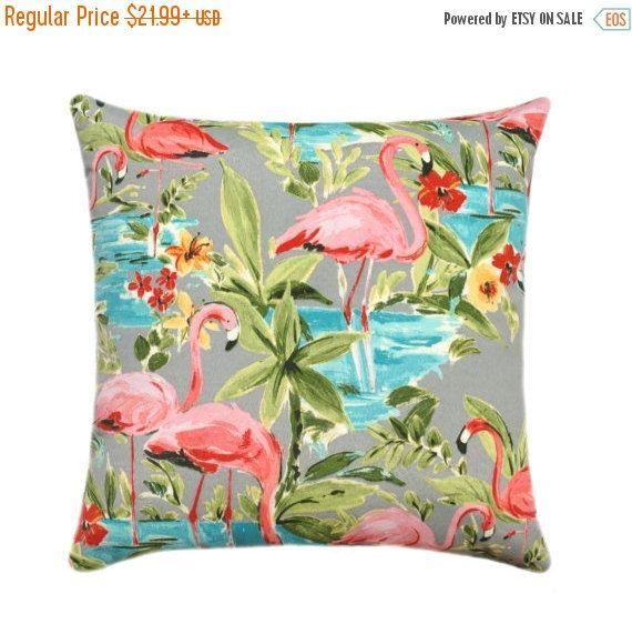 Flamingos Outdoor Pillow Cover Cushion