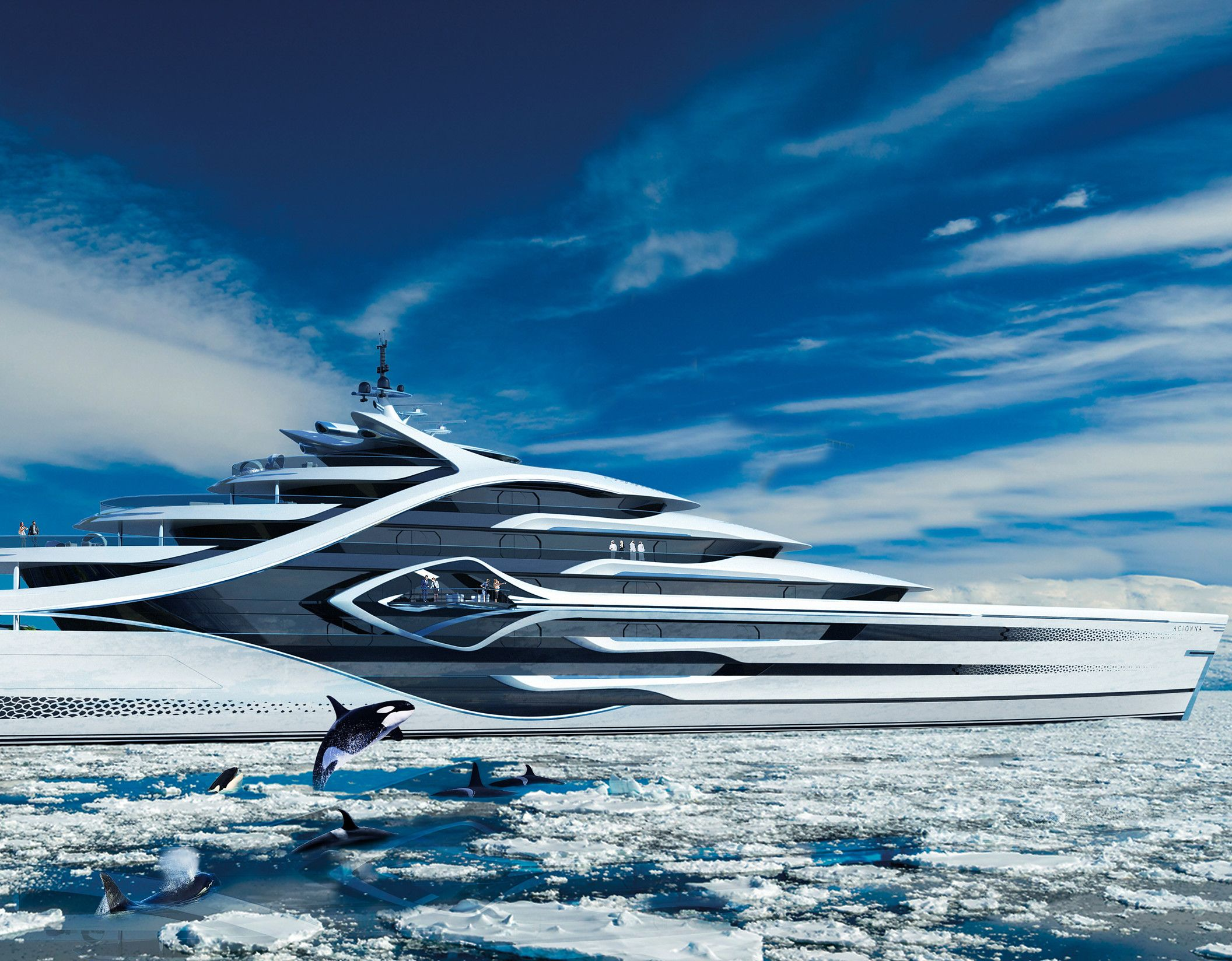 Andywaughyachtdesign Acionna With Images Yacht Design Super