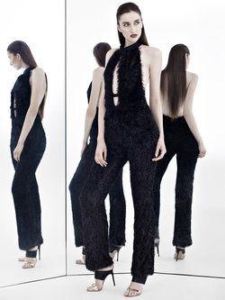 258da282396 Black Sexy H-line Polyester Halter Jumpsuit