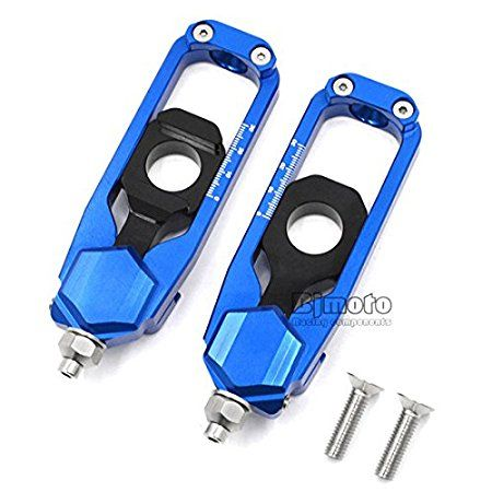 Blue Motorcycle Rear Axle Chain Adjuster Tensioner Catena Spool For Yamaha MT09 FZ-09 MT-09 FZ09 2013 2014 2015 2016 2017