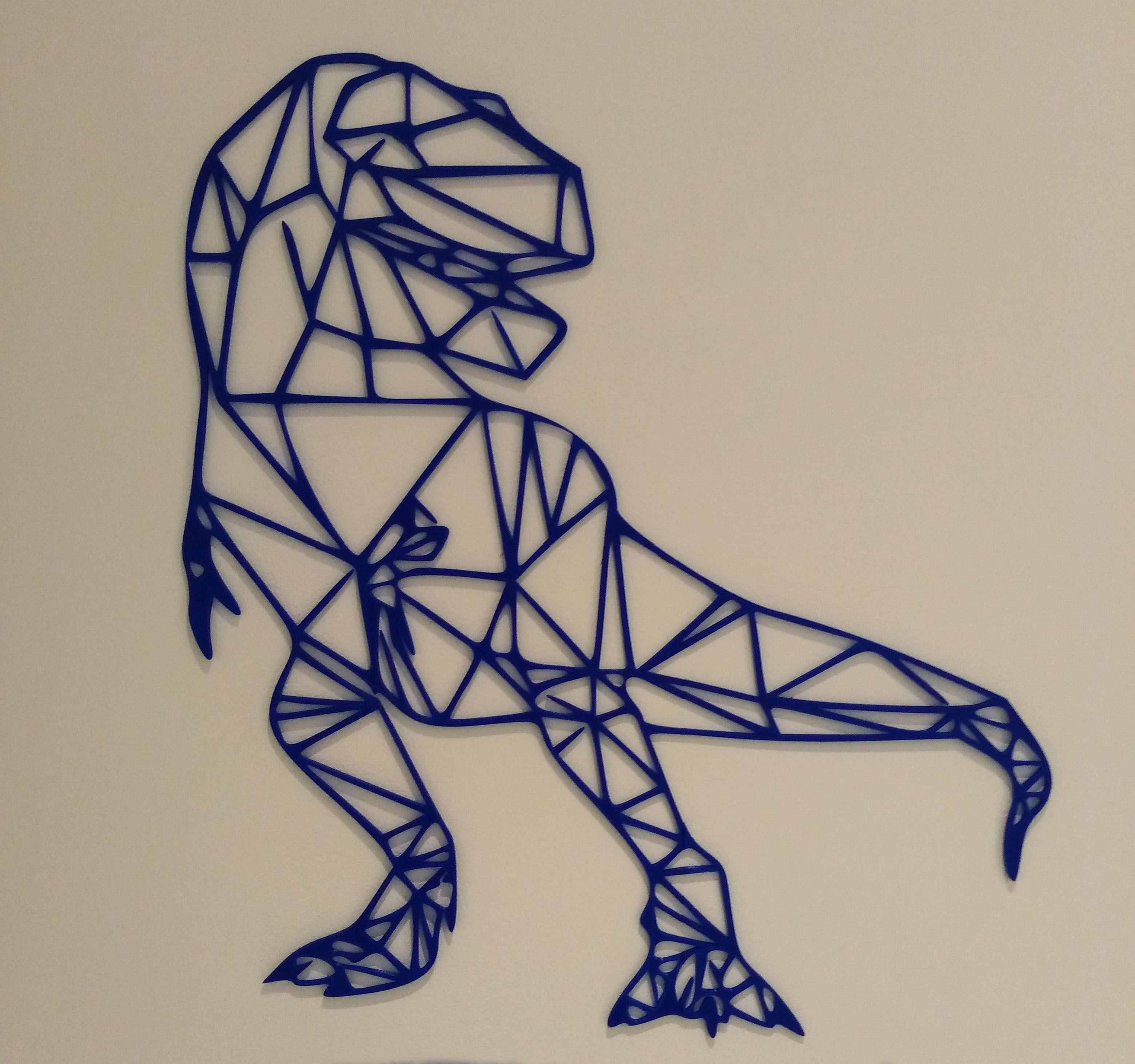 trex  3d déco à soultz  dinosaure t rex