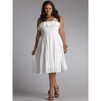78  images about White summer dress on Pinterest  Plus size ...