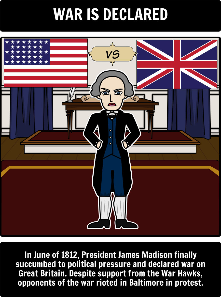 War Of 1812 Major Events Of The War Of 1812 Have Students Create