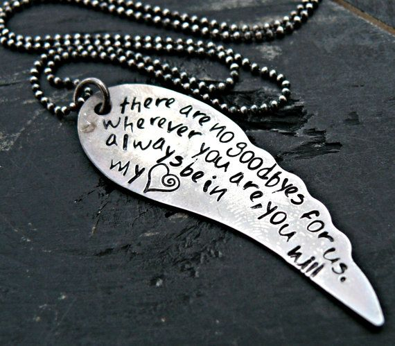 Forever i hold you in my♥ my son 10-10-13  Memory Necklace - Sterling Silver Jewelry via Etsy