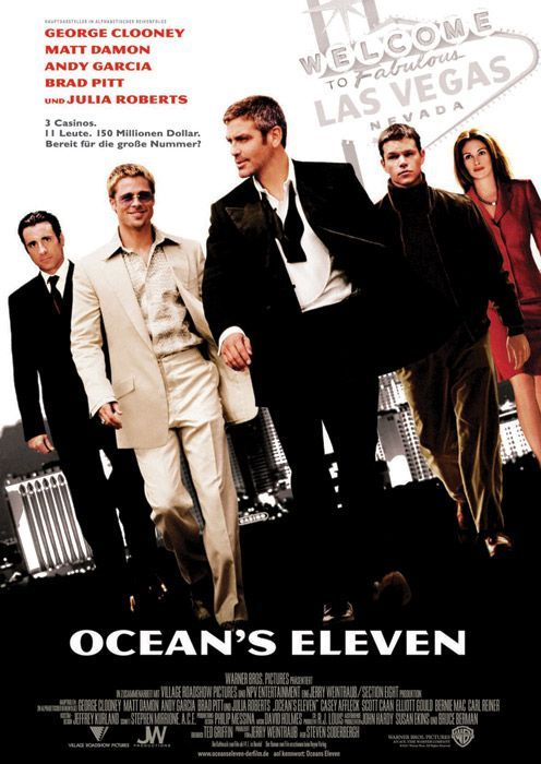 Ocean's Eleven - Steven Soderbergh enlisted George Clooney (in the Frank  Sinatra role) and a rat pack of other… | Ocean's movies, Oceans eleven, Oceans  11 movie